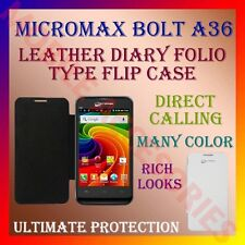 ACM-LEATHER DIARY FOLIO FLIP CASE for MICROMAX BOLT A36 MOBILE FRONT/BACK COVER