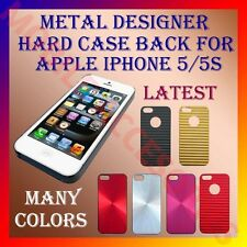ACM-METAL DESIGNER HARD CASE COVER BACK for APPLE IPHONE 5 & 5S POUCH PROTECT