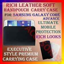 ACM-RICH LEATHER SOFT CARRY CASE for SAMSUNG GALAXY CORE ADVANCE HANDPOUCH COVER