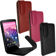 Cuero Funda Piel Carcasa Case Cover para LG Google Nexus 5 D820 + Sleep / Wake