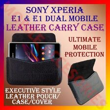 ACM-HORIZONTAL LEATHER CARRY CASE for SONY XPERIA E1 & E1 DUAL MOBILE COVER CASE