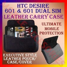ACM-HORIZONTAL LEATHER CARRY CASE for HTC DESIRE 601 & 601 DUAL SIM POUCH COVER