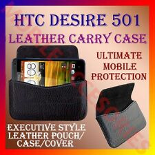 ACM-HORIZONTAL LEATHER CARRY CASE for HTC DESIRE 501 MOBILE POUCH PREMIUM COVER
