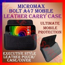ACM-HORIZONTAL LEATHER CARRY CASE for MICROMAX BOLT A47 MOBILE POUCH COVER NEW