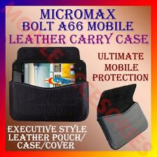 ACM-HORIZONTAL LEATHER CARRY CASE for MICROMAX BOLT A66 MOBILE RICH POUCH COVER
