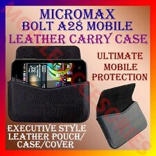 ACM-HORIZONTAL LEATHER CARRY CASE for MICROMAX BOLT A28 MOBILE POUCH COVER CASE