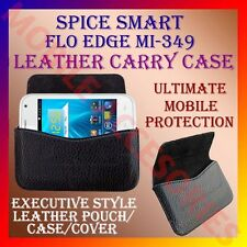 ACM-HORIZONTAL LEATHER CARRY CASE for SPICE SMART FLO EDGE MI-349 POUCH COVER