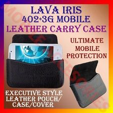ACM-HORIZONTAL LEATHER CARRY CASE for LAVA IRIS 3G 402+ MOBILE POUCH COVER NEW