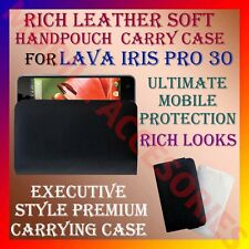 ACM-RICH LEATHER SOFT CARRY CASE for LAVA IRIS PRO 30 MOBILE HANDPOUCH COVER NEW