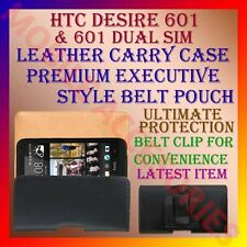 ACM-BELT CASE for HTC DESIRE 601 & 601 DUAL SIM MOBILE LEATHER POUCH COVER CLIP
