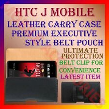 ACM-BELT CASE for HTC J MOBILE LEATHER CARRY POUCH PREMIUM EXECUTIVE COVER CLIP