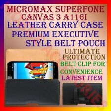 ACM-BELT CASE for MICROMAX SUPERFONE CANVAS 3 A116i LEATHER CARRY POUCH COVER