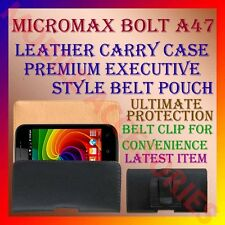 ACM-BELT CASE for MICROMAX BOLT A47 MOBILE LEATHER CARRY POUCH COVER CLIP HOLDER