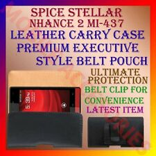 ACM-BELT CASE for SPICE STELLAR NHANCE 2 MI-437 LEATHER CARRY POUCH COVER CLIP