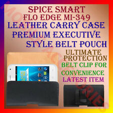 ACM-BELT CASE for SPICE SMART FLO EDGE MI-349 MOBILE LEATHER CARRY POUCH COVER