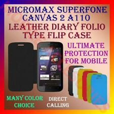 ACM-LEATHER DIARY FOLIO FLIP CASE for MICROMAX SUPERFONE CANVAS 2 A110 COVER NEW