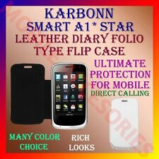 ACM-LEATHER DIARY FOLIO FLIP FLAP CASE for KARBONN SMART A1* STAR MOBILE COVER