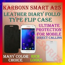 ACM-LEATHER DIARY FOLIO FLIP CASE for KARBONN SMART A25 MOBILE FRONT/BACK COVER