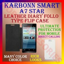 ACM-LEATHER DIARY FOLIO FLIP CASE for KARBONN SMART A7* STAR MOBILE FULL COVER