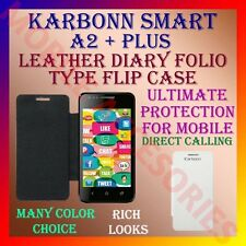 ACM-LEATHER DIARY FOLIO FLIP CASE for KARBONN SMART A2+ MOBILE FRONT/BACK COVER