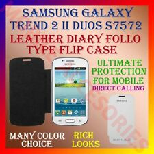 ACM-LEATHER DIARY FOLIO FLIP CASE for SAMSUNG GALAXY TREND 2 II DUOS S7572 COVER