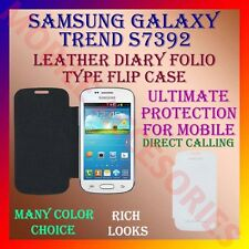 ACM-LEATHER DIARY FOLIO FLIP CASE for SAMSUNG GALAXY TREND S7392 MOBILE COVER