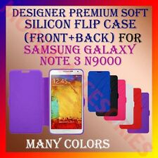 ACM-DESIGNER PREMIUM SILICON SOFT FLIP CASE for SAMSUNG NOTE 3 N9000 COVER NEW