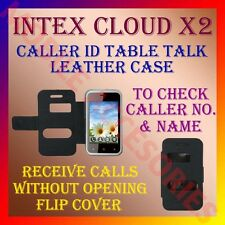 ACM-CALLER ID TABLE TALK CASE for INTEX CLOUD X2 MOBILE FLIP FRONT & BACK COVER