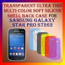 ACM-TRANSPARENT THIN COLOR SILICON COVER for SAMSUNG STAR PRO S7262 BACK CASE