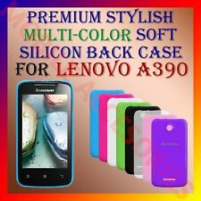 ACM-PREMIUM RICH MULTI-COLOR SOFT SILICON BACK CASE for LENOVO A390 MOBILE COVER