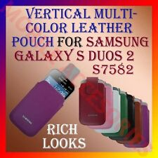 ACM-VERTICAL LEATHER CARRY CASE COVER MULTI-COLOR for SAMSUNG S DUOS 2 S7582 NEW