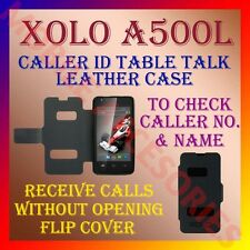 ACM-CALLER ID TABLE TALK CASE for XOLO A500L MOBILE FLIP LEATHER CARRY COVER NEW