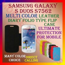 ACM-LEATHER DIARY FOLIO FLIP FLAP CASE for SAMSUNG GALAXY S DUOS S7562 COVER NEW