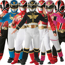 Child Licensed Power Ranger Party Outfit Fancy Dress Costume & Mask Boy Girl Kid
