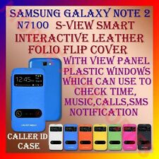 ACM-S-VIEW SMART INTERACTIVE LEATHER FLIP CASE for SAMSUNG NOTE 2 N7100 COVER