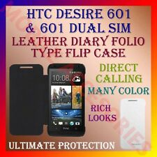 ACM-LEATHER DIARY FOLIO FLIP COVER for HTC DESIRE 601 & 601 DUAL SIM FULL FLAP