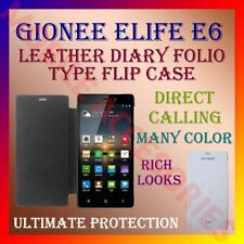 ACM-LEATHER DIARY FOLIO FLIP CASE for GIONEE ELIFE E6 MOBILE FRONT & BACK COVER