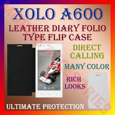 ACM-LEATHER DIARY FOLIO FLIP FLAP CASE for XOLO A600 MOBILE FRONT & BACK COVER