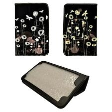 BLACK WHITE BUTTERFLYAND FLOWERDESIGN PU LEATHER COVER SAMSUNG GALAXY TAB3 P3200