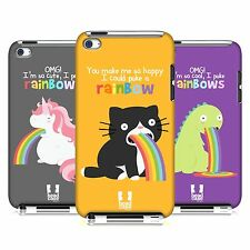 HEAD CASE DESIGNS RAINBOW PUKE CASE COVER FOR APPLE iPOD TOUCH 4G 4TH GEN