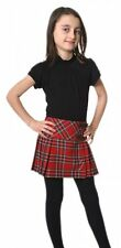 Girls 100% Wool Billie Kilt, Stewart Royal Tartan