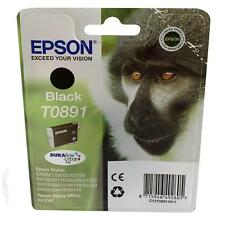 GENUINE EPSON MONKEY SERIES BLACK DURABRITE PRINTER INK CARTRIDGE T0891
