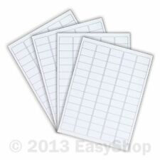 White A4 Inkjet Laser Sheets Self Adhesive Sticky Address Labels 38 x 21mm 65 up