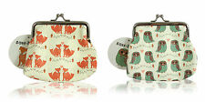 COIN PURSES | Forest Owl and Woodland Fox Coin Purse | SASS & BELLE