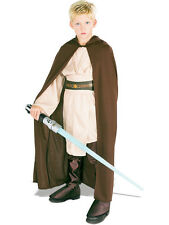 Child Licensed Star Wars Jedi Robe Outfit Kids Fancy Dress Boys Ages 3-10