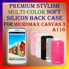 ACM-PREMIUM MULTICOLOR SOFT SILICON BACK CASE for MICROMAX CANVAS 3 A116 MOBILE