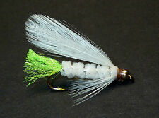 3x, 6x or 12x Fly Fishing Trout Flies (GBL7) GOLDHEAD WHITE VIVA Trout Fly