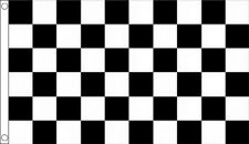Black & White Chequered Racing Polyester Flags