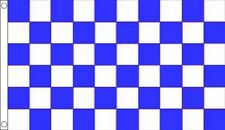 Blue & White Chequered Racing Polyester Flags