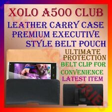 ACM-BELT CASE for XOLO A500 CLUB MOBILE LEATHER CARRY POUCH COVER CLIP HOLDER